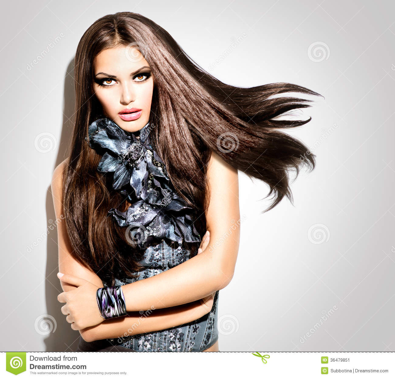Fashion Model Girl Stock Image