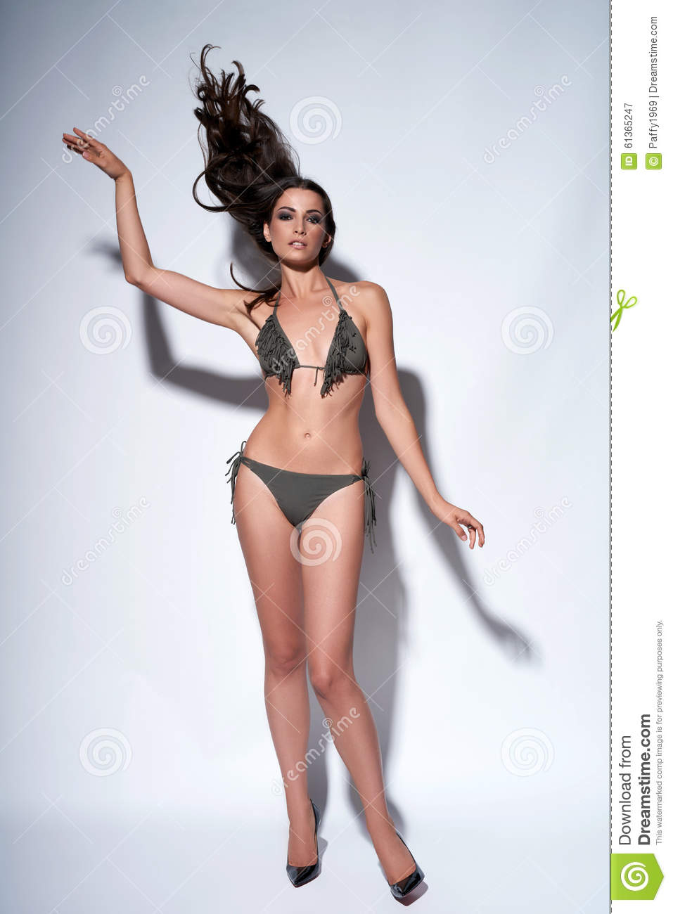 Fashion Model Posing In Bikini Stock Image