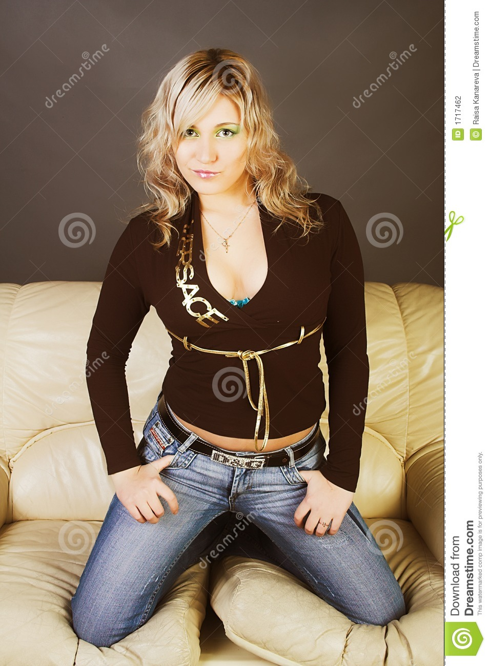 Fashion Model In Sexy Casual Clothing Stock Photography ...
