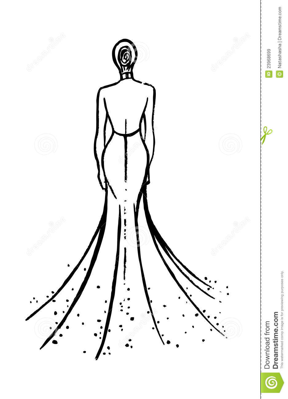 Fashion Model Sketch Royalty Free Stock Images - Image: 23968699