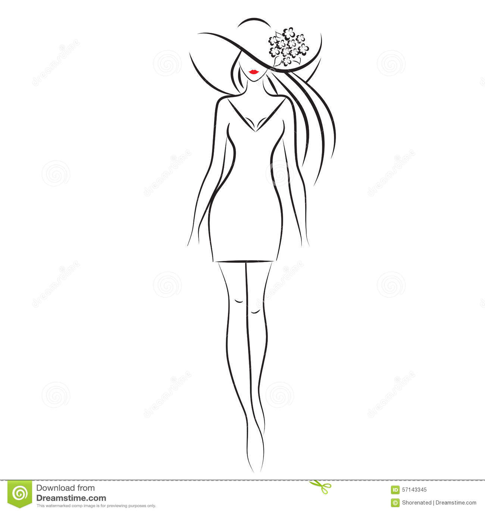 Fashion Model Stock Vector. Illustration Of Hair Lady - 57143345