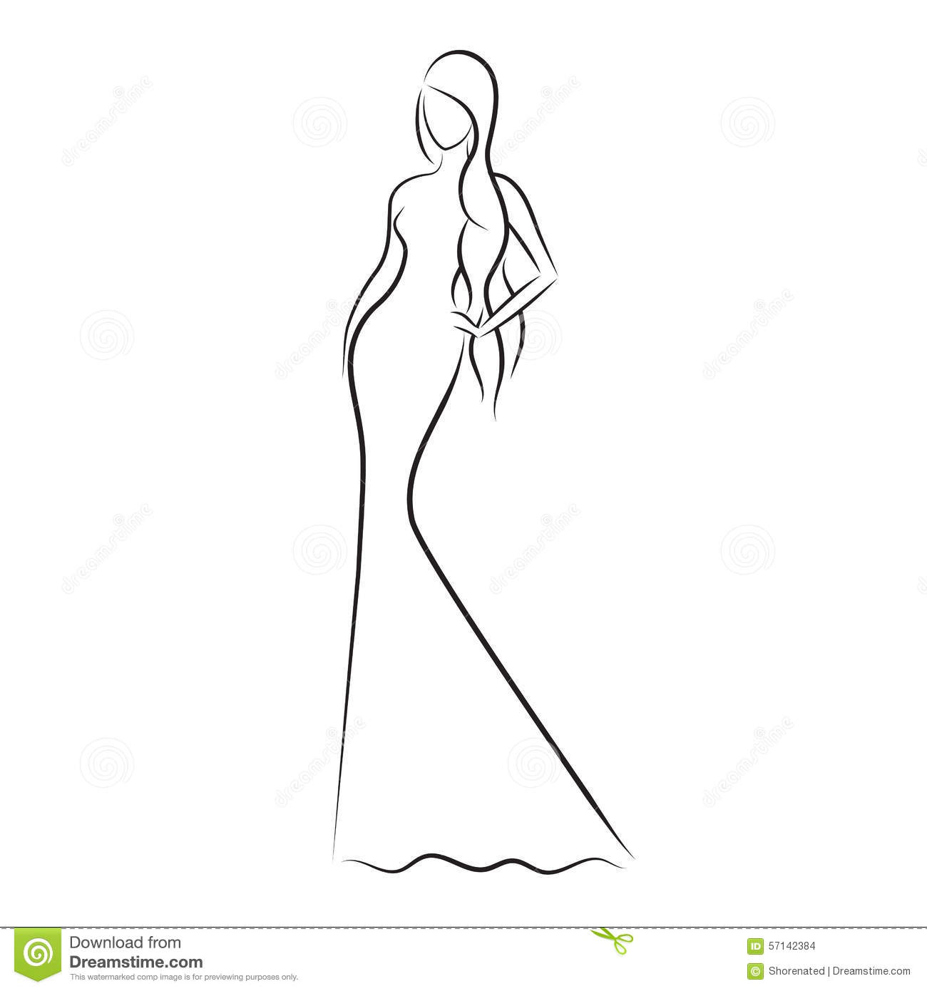Fashion model sketch stock vector. Illustration of ...