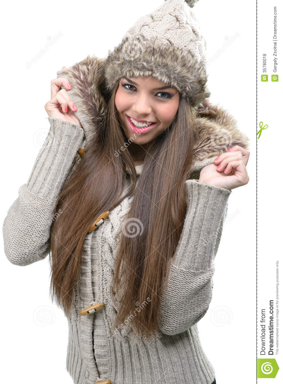 fashion model warm winter clothing stock photo image 35780018. Black Bedroom Furniture Sets. Home Design Ideas