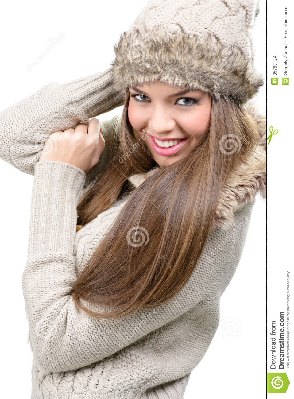 Fashion Model - Warm Winter Clothing Stock Images - Image 35780124