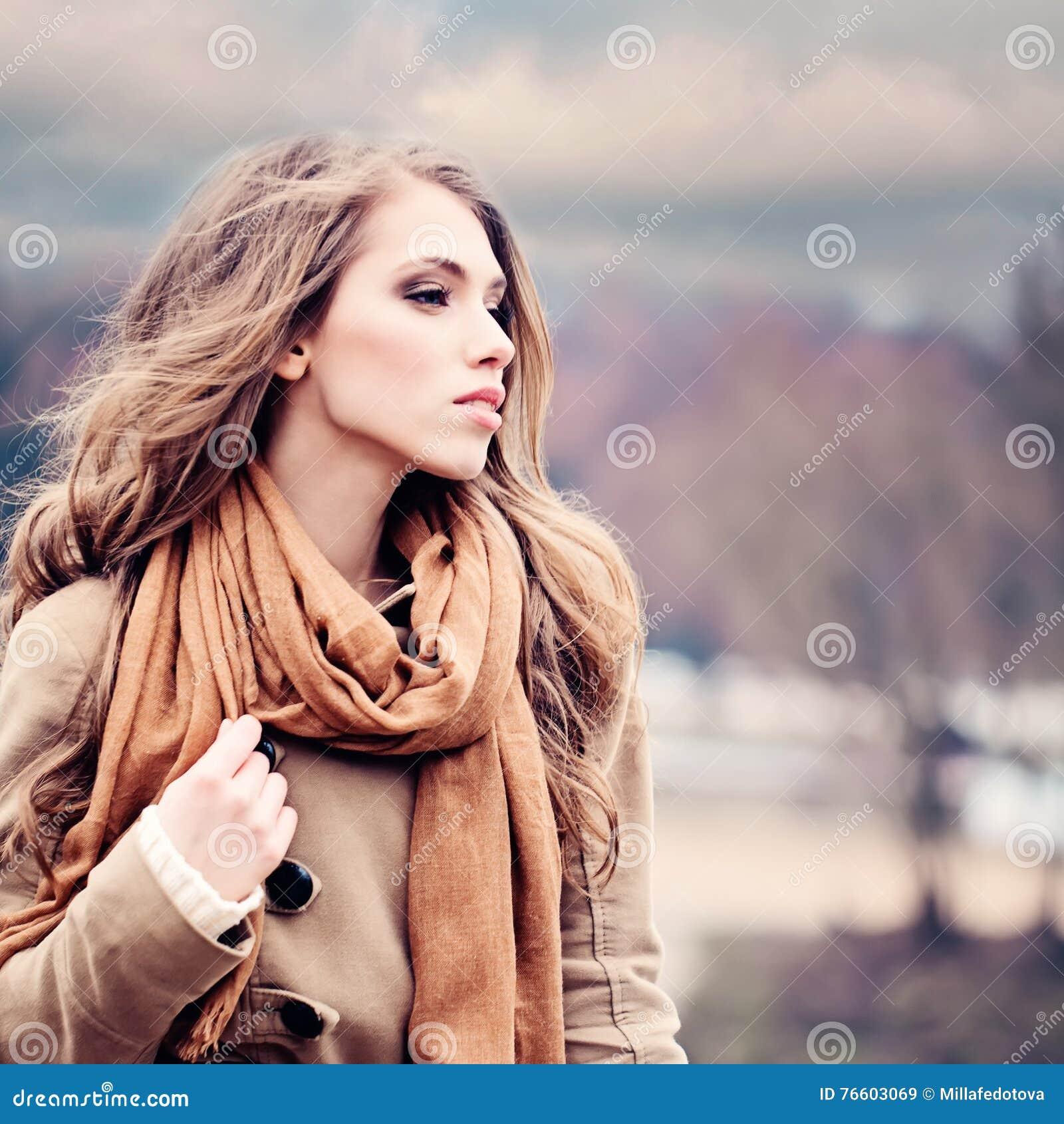 Fashion Model Woman Outdoors