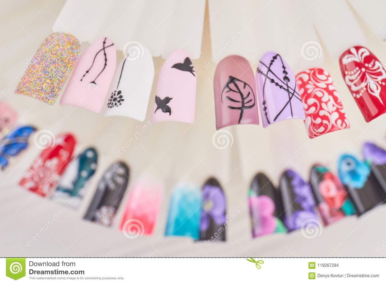 Fashion Nails Art Design Samples Stock Photo Image Of Collection
