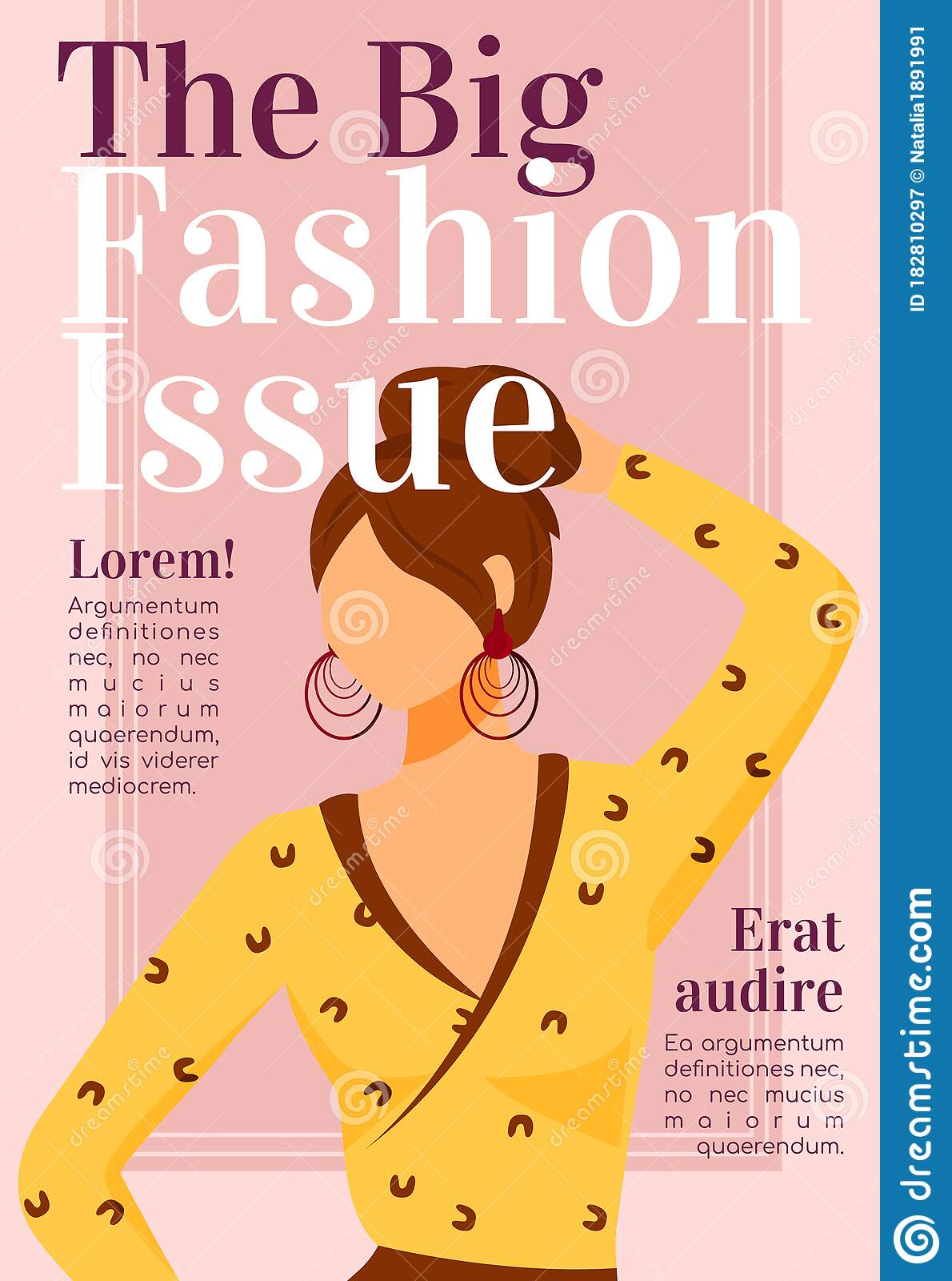 Fashion News Magazine Cover Template Stock Vector Illustration Of Advertising Guide 182810297