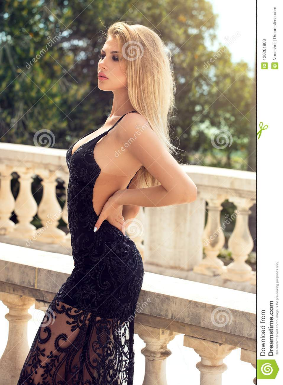 Blonde sexy woman photo words