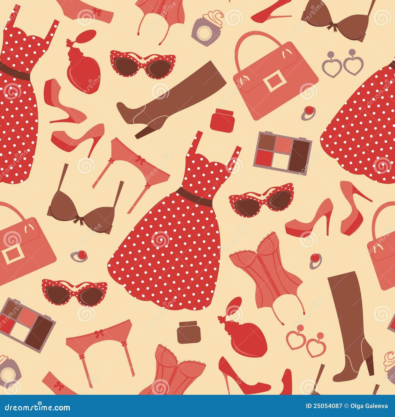 Fashion pattern stock vector. Illustration of heels, girl ...