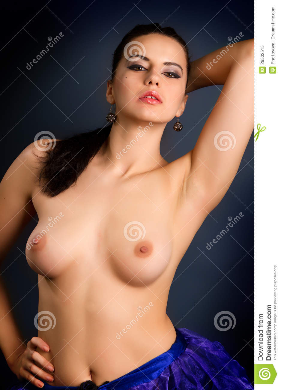 Getting naked woman