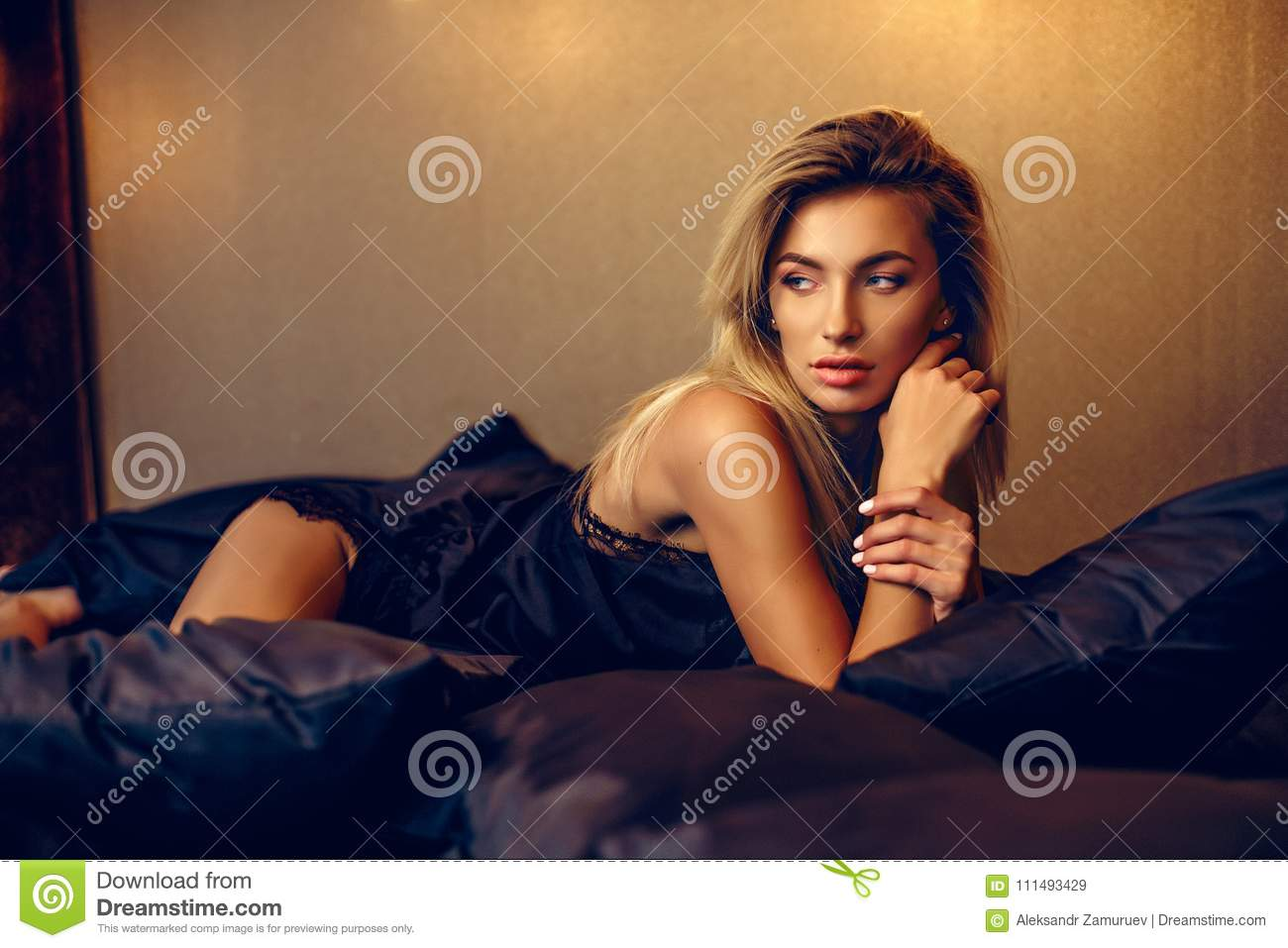 Super Beautiful Woman Lying On Bed Top View Stock Image Image Of Uwap Interior Chair Design Uwaporg