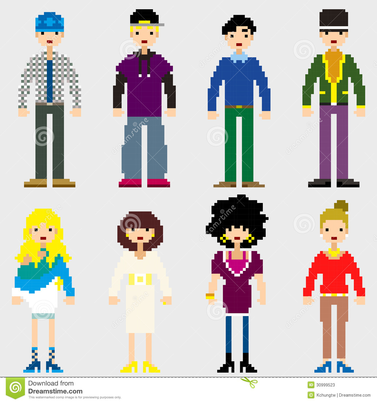 Fashion pixel people stock vector image of design for Pixel people interior designer