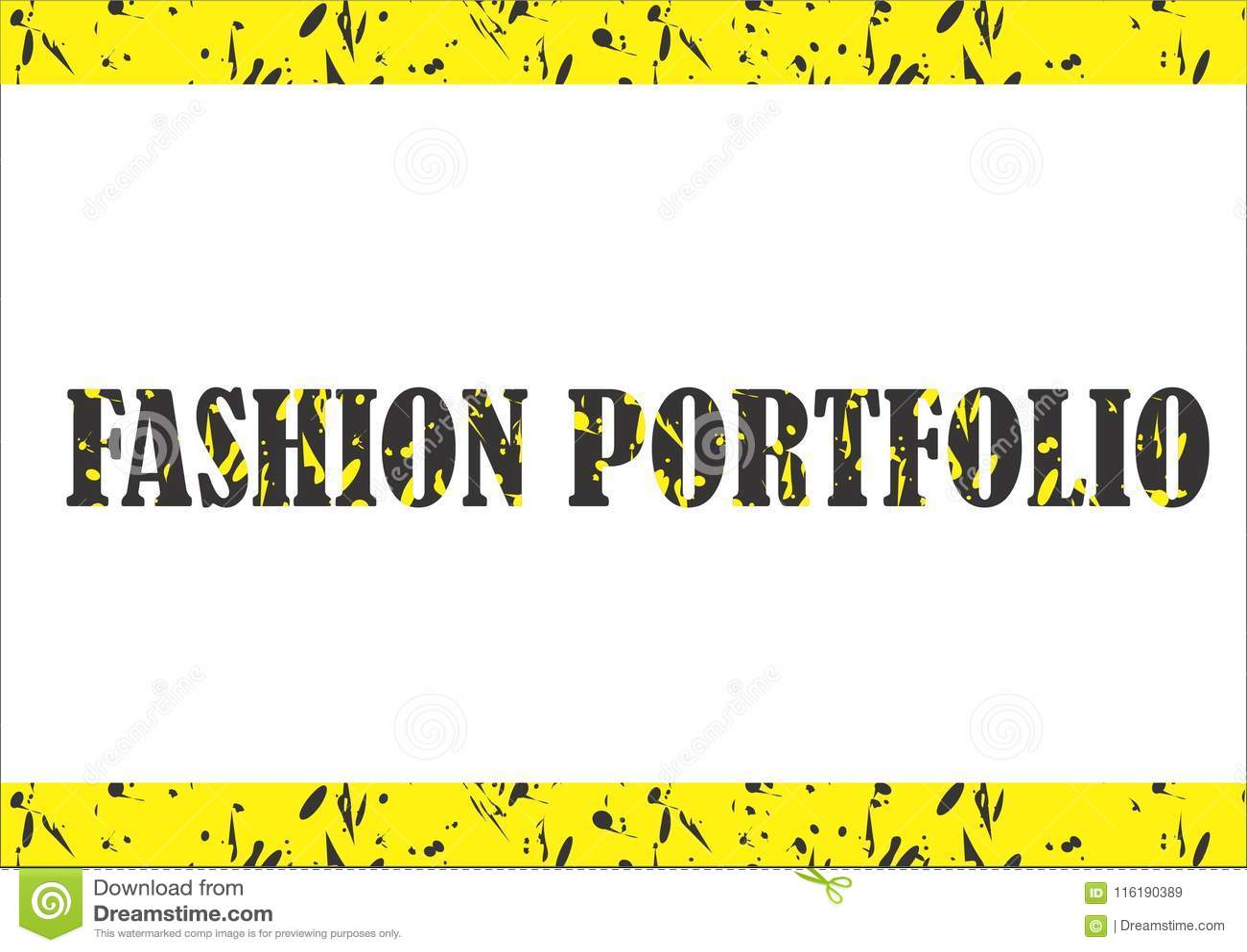 Fashion Portfolio Stock Illustration Illustration Of Fashion 116190389