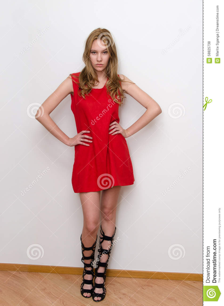 5b1ee45ad46d Fashion Portrait Of Gorgeous Young Woman Stock Photo - Image of girl ...