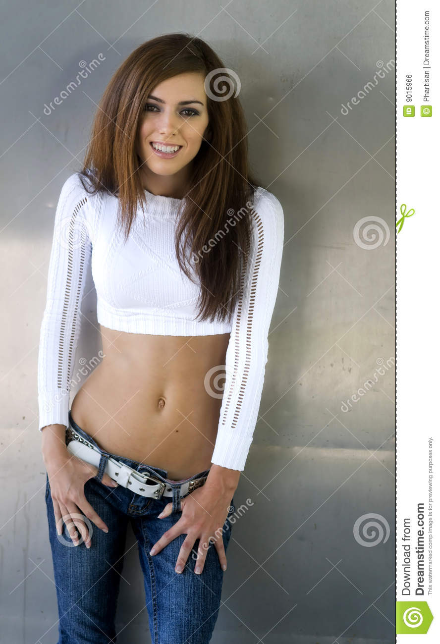 Fashion Portrait Shot Of Pretty Teen Stock Photo