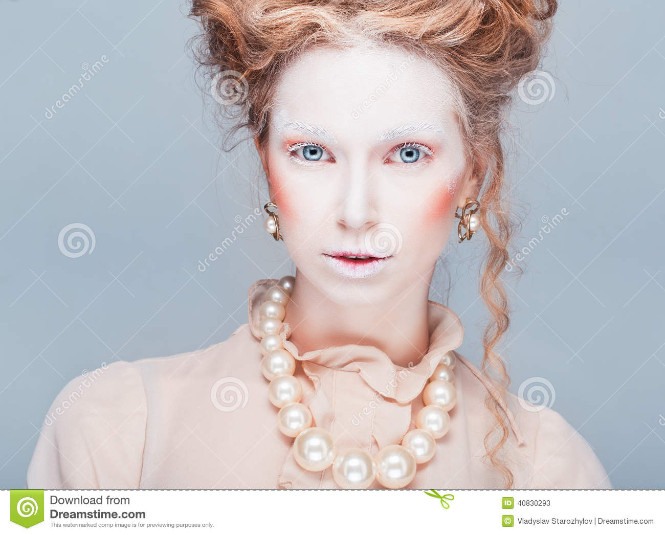 Fashion Portrait In Style Of Maria Antuanetta Stock Photo Image 40830293