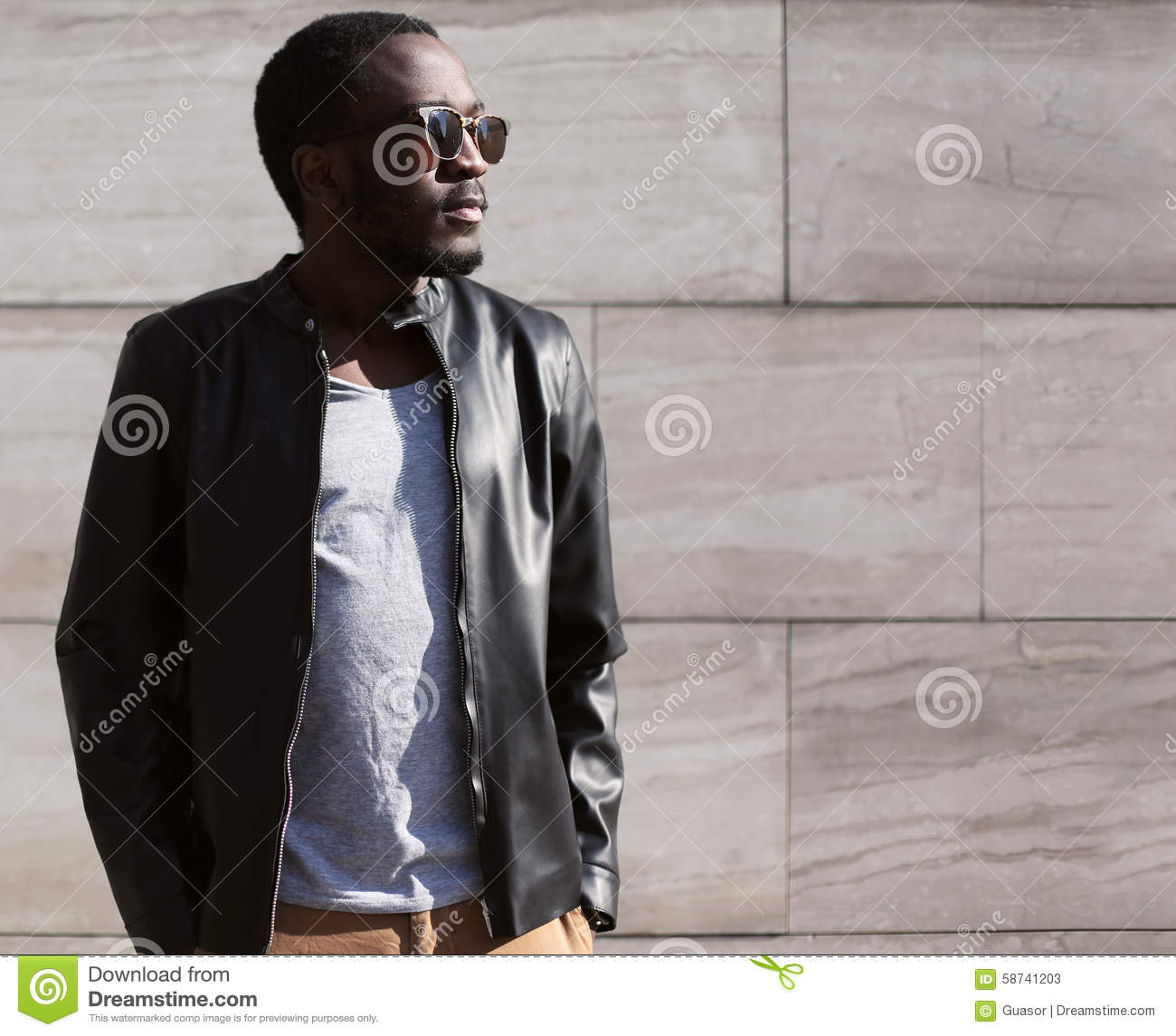 Fashion Portrait Of Stylish Young African Man Stock Image ...