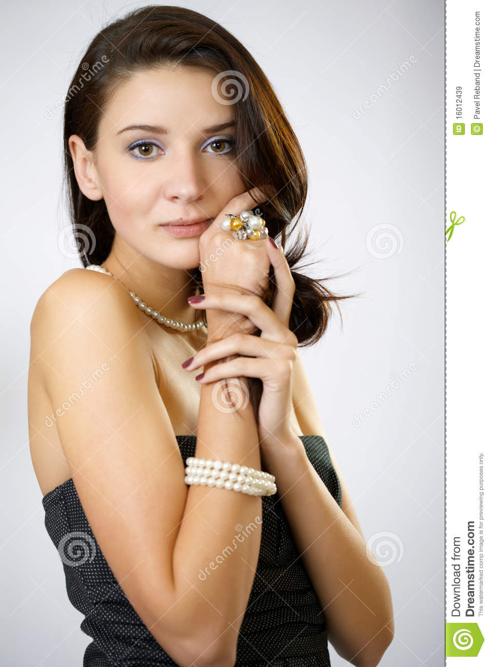 Fashion portrait of a woman in a casual dress