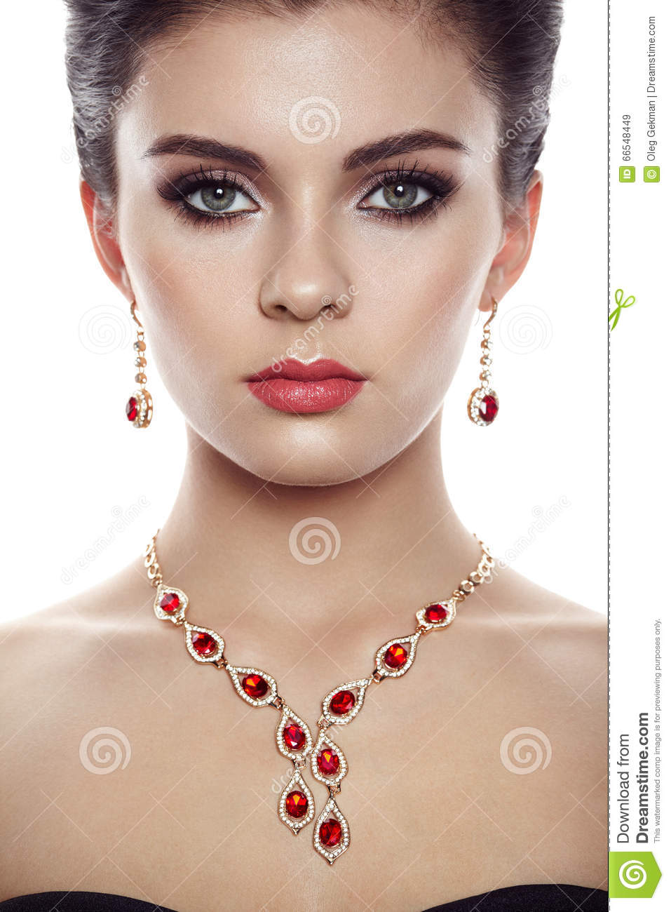 Fashion Portrait Of Young Beautiful Woman With Jewelry Stock Image 83194885