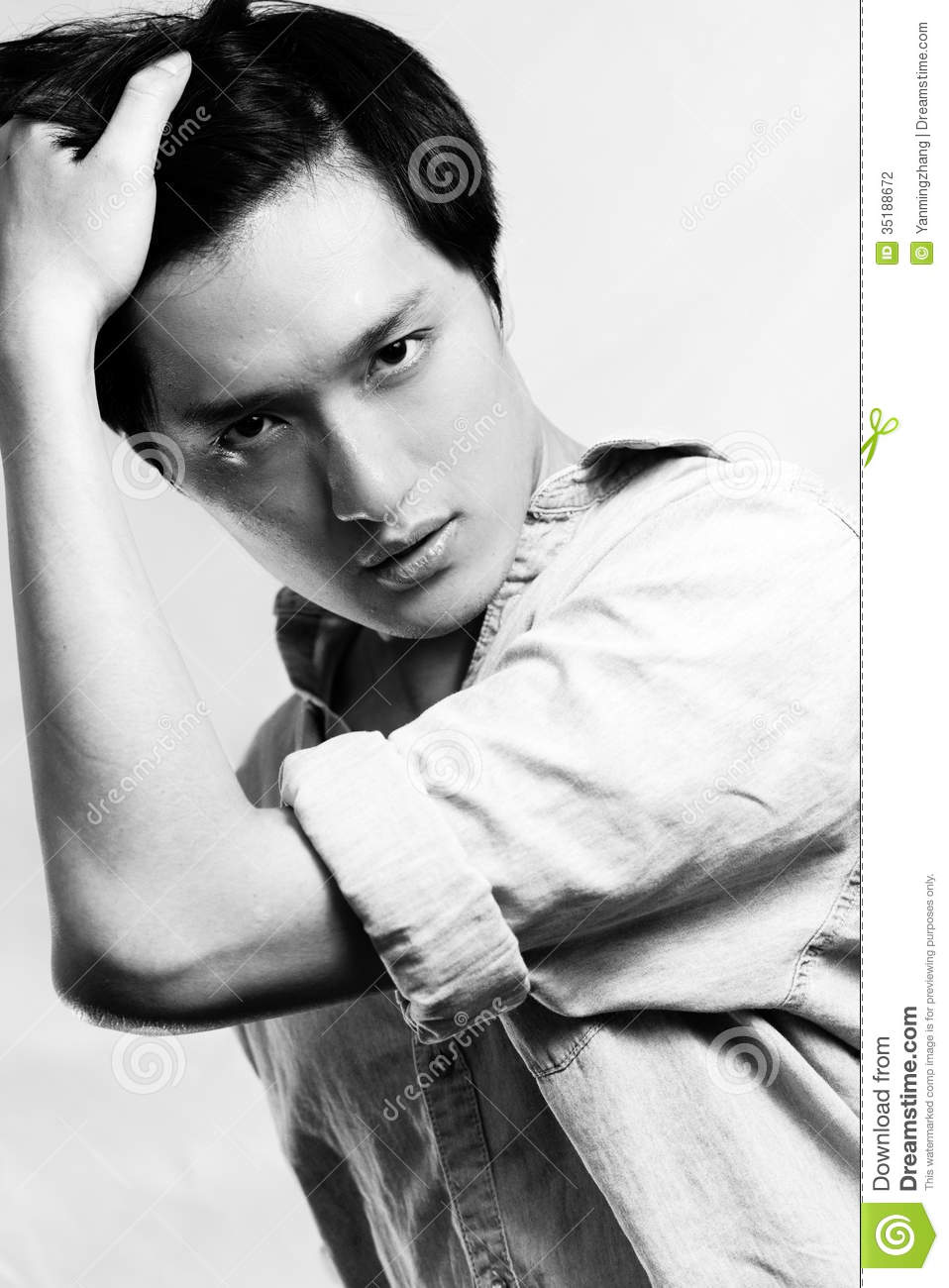 Fashion pose by male model stock photo  Image of blue - 35188672