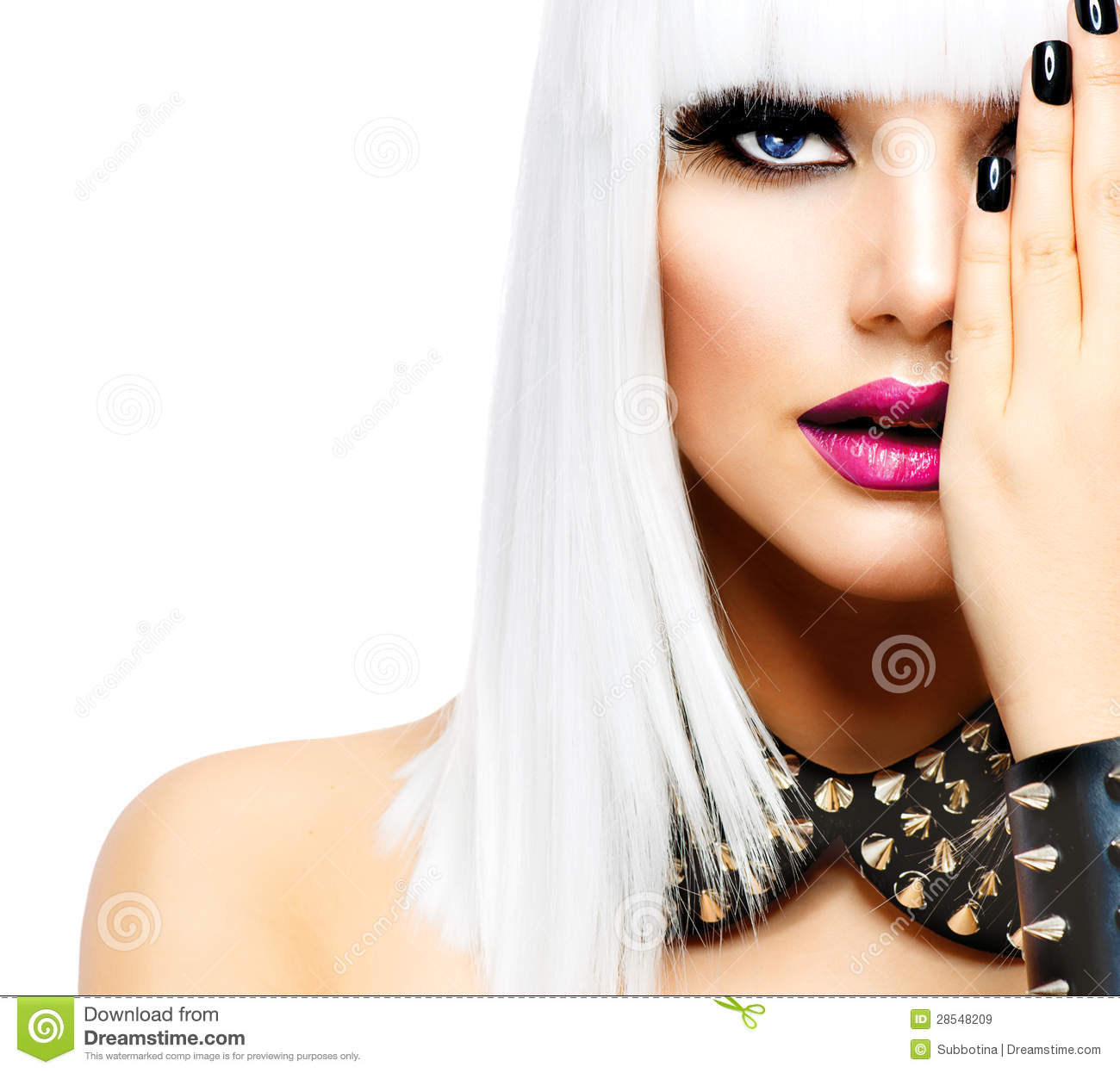 Fashion Punk Style Girl Stock Image Image Of Make Makeup 28548209