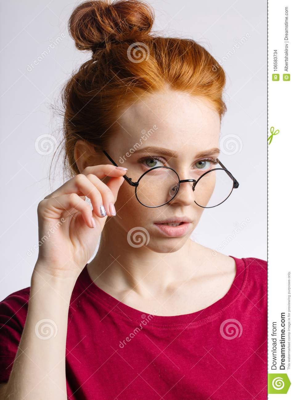 Remarkable, the adult redhead glasses