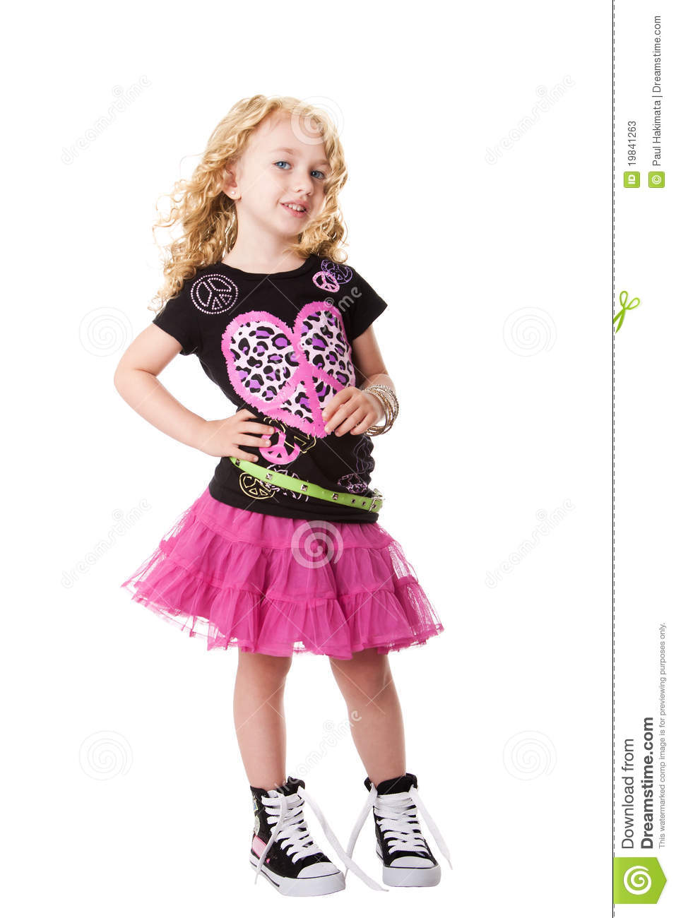 Fashion rock'n roll child stock image  Image of black - 19841263