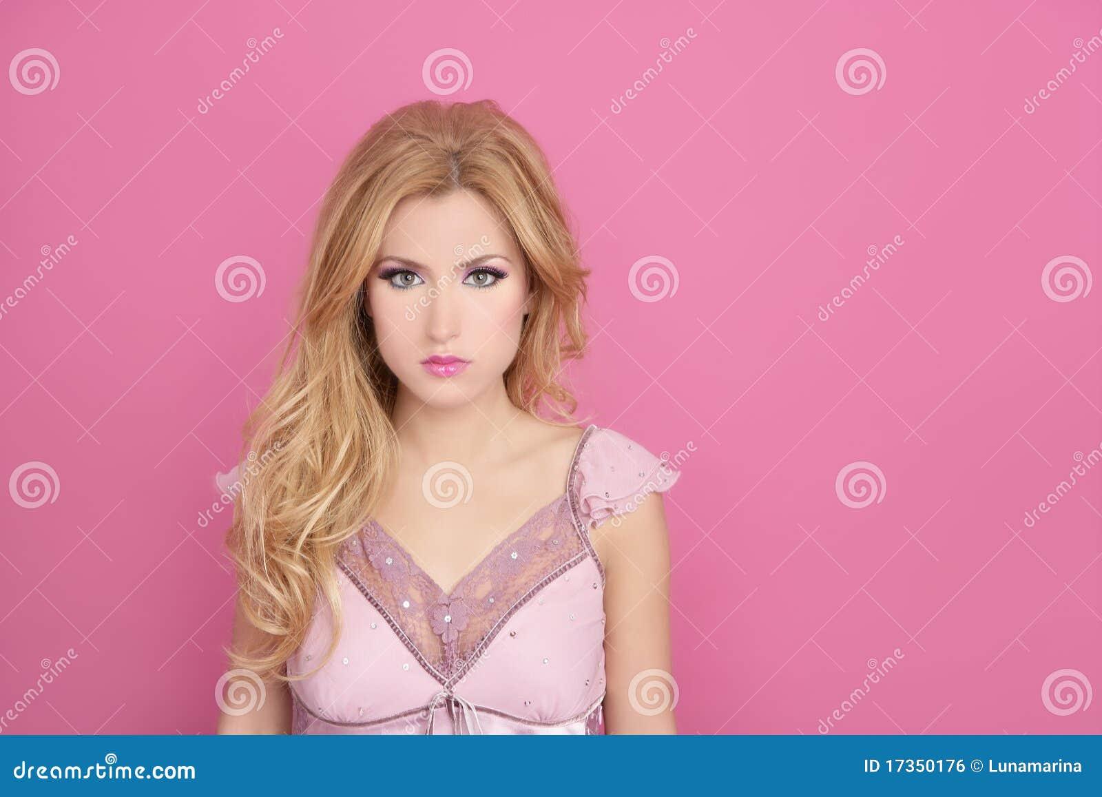 Fashion Romantic Blonde Pink Barbie Doll Style Stock Photo Image