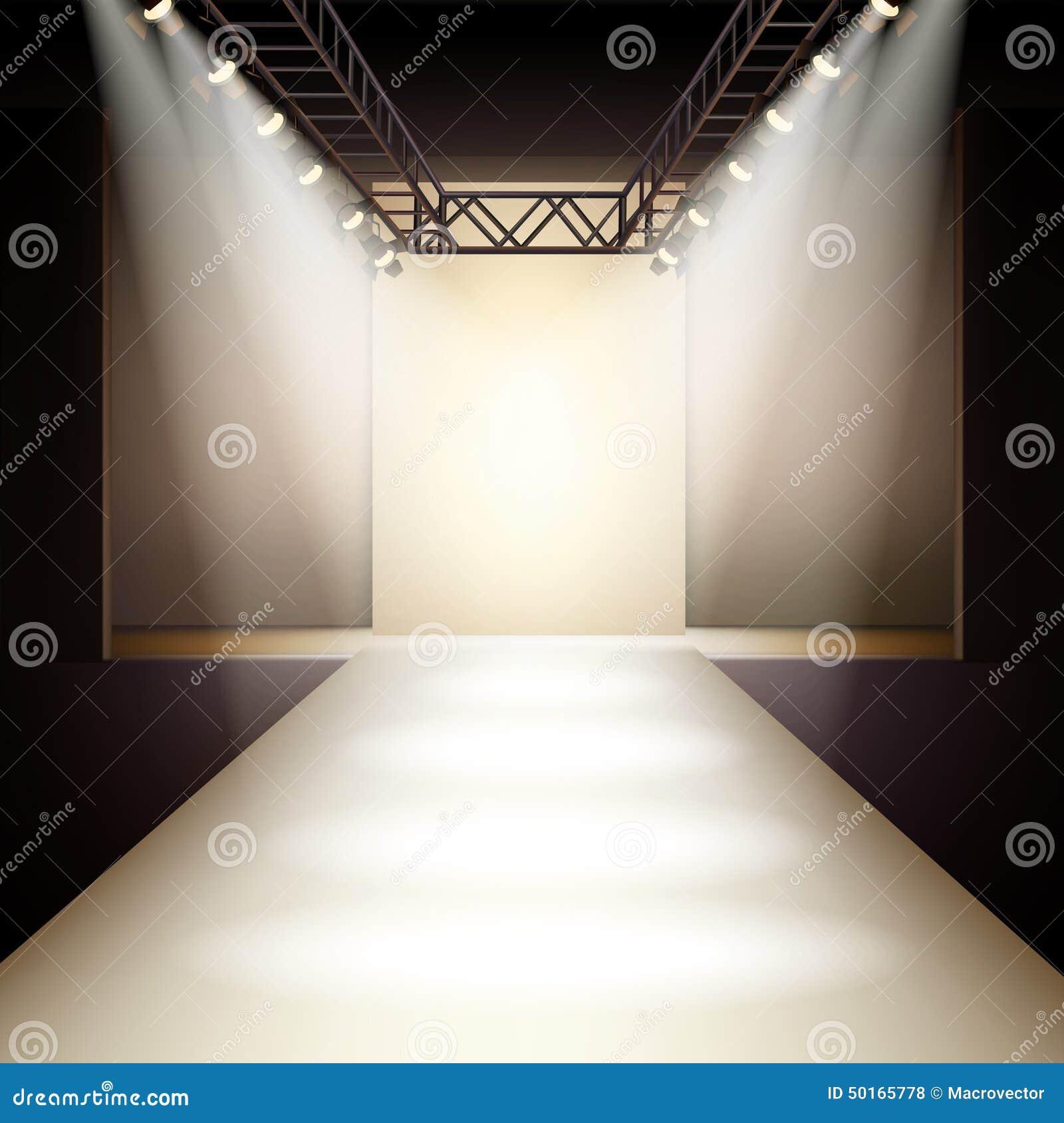 Empty fashion runway background