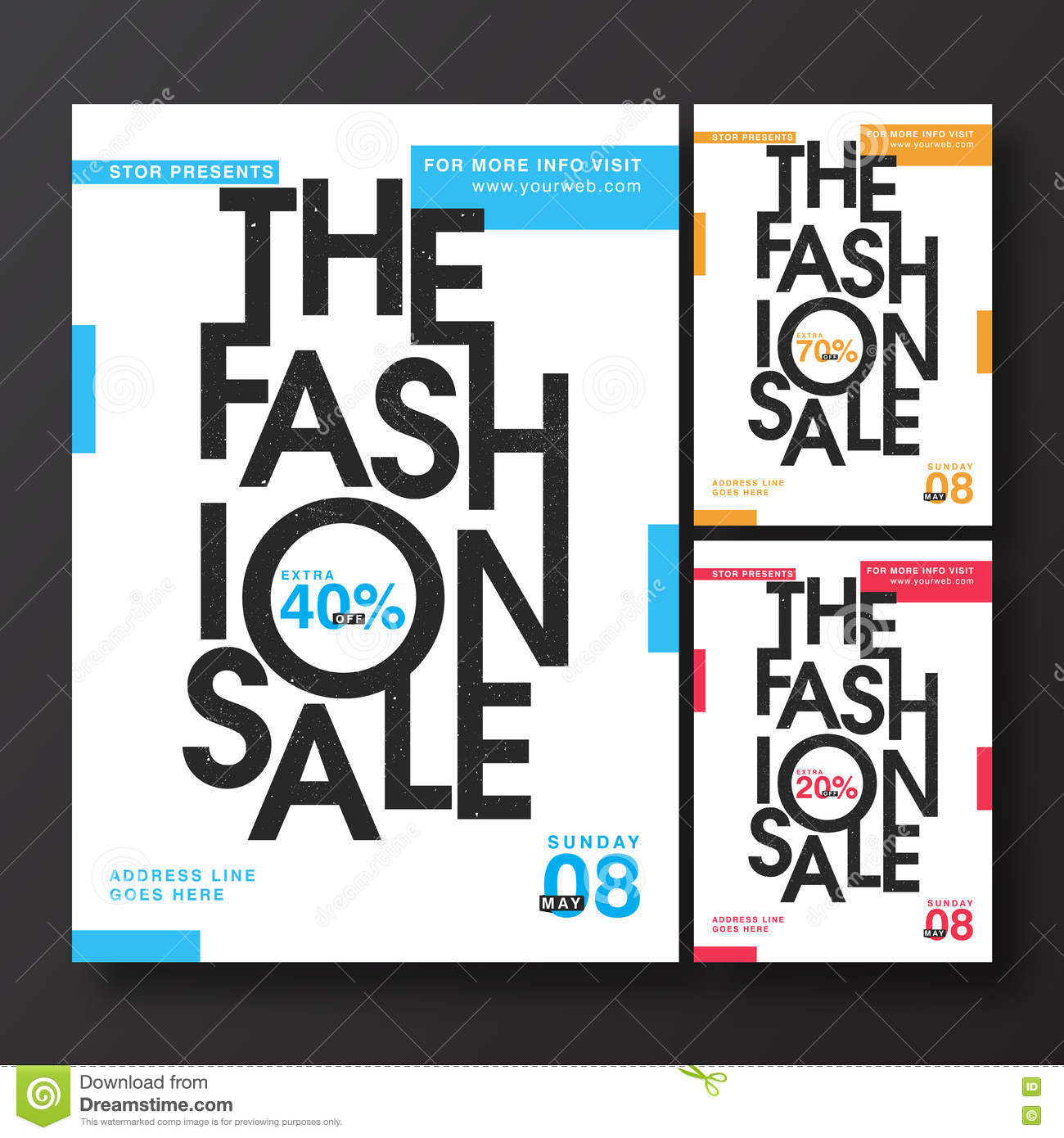 Fashion Sale Poster Banner Or Flyer Design Illustration – Sale Flyer Design