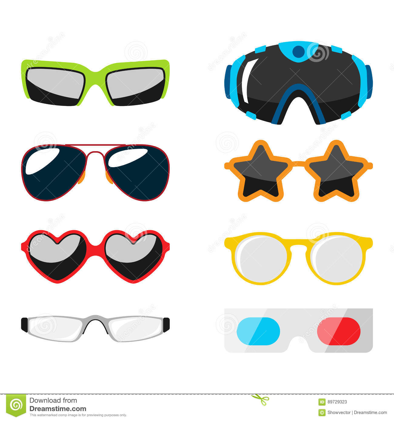 Fashion Set Sunglasses Accessory Sun Spectacles Plastic Frame Modern ...