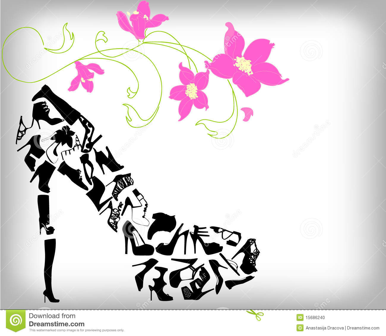 Fashion Shoes Background Stock Vector Illustration Of Pattern 15686240