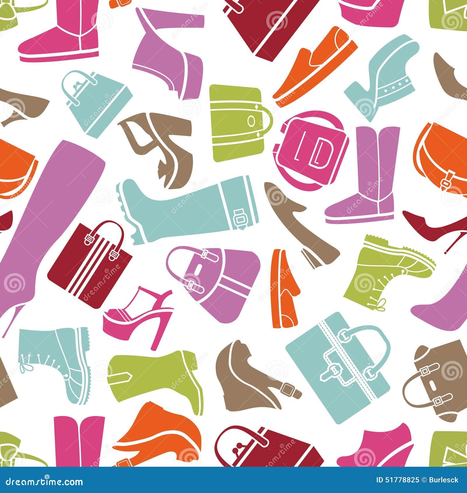 Seamless Pattern Women Shoes