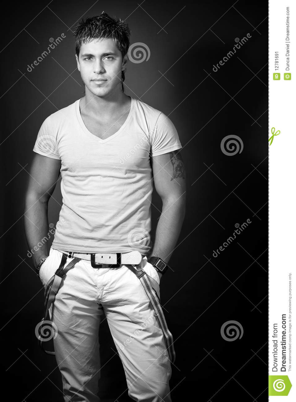 Fashion shoot of handsome young man