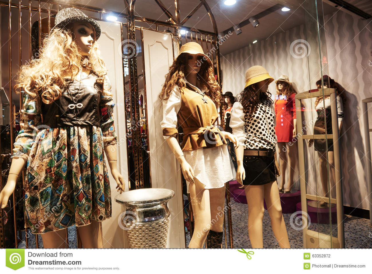 ad01db654bb Fashion Shop Window Clothing Store Front Stock Photo - Image of ...
