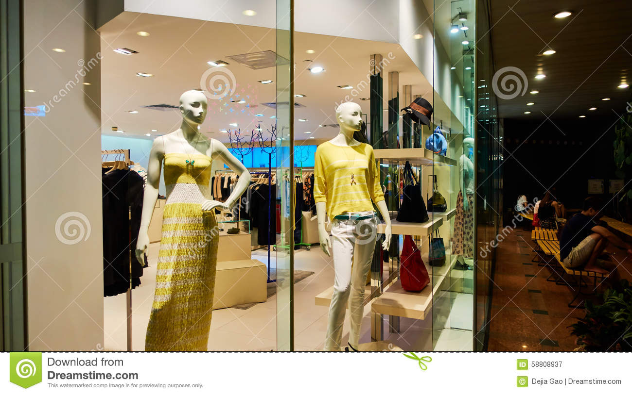 010aa872ef Fashion Clothing Store Clothes Shop Window Stock Image - Image of ...