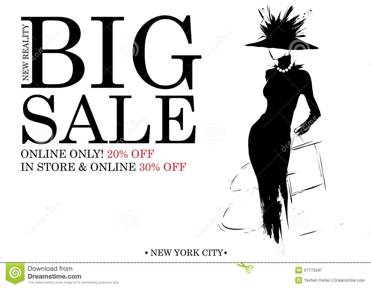 Fashion Shopping Design Stock Vector Illustration Of Discount