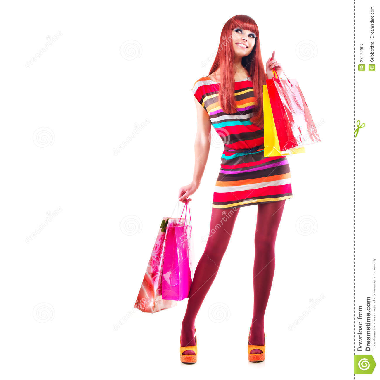 fashion shopping girl stock image image of lifestyle