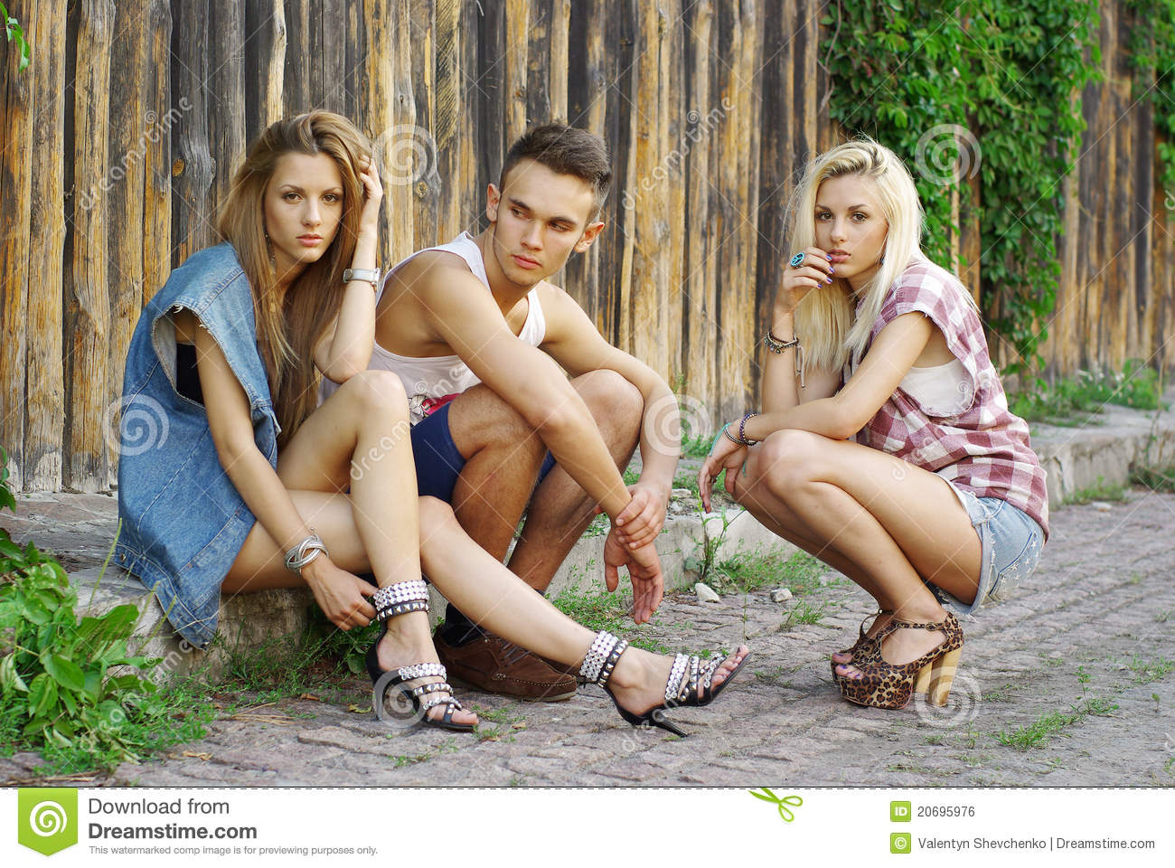 Fashion Shot Of A Trendy Of Young People Stock Photo Image 20695976