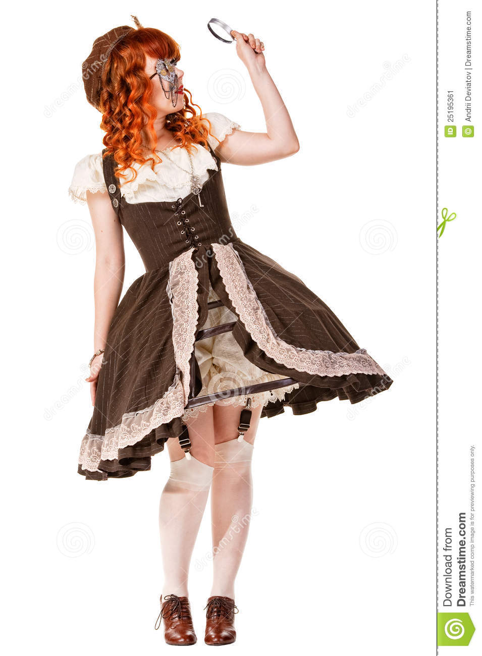 Fashion Shot Of Woman In Doll Style Stock Image Image 25195361