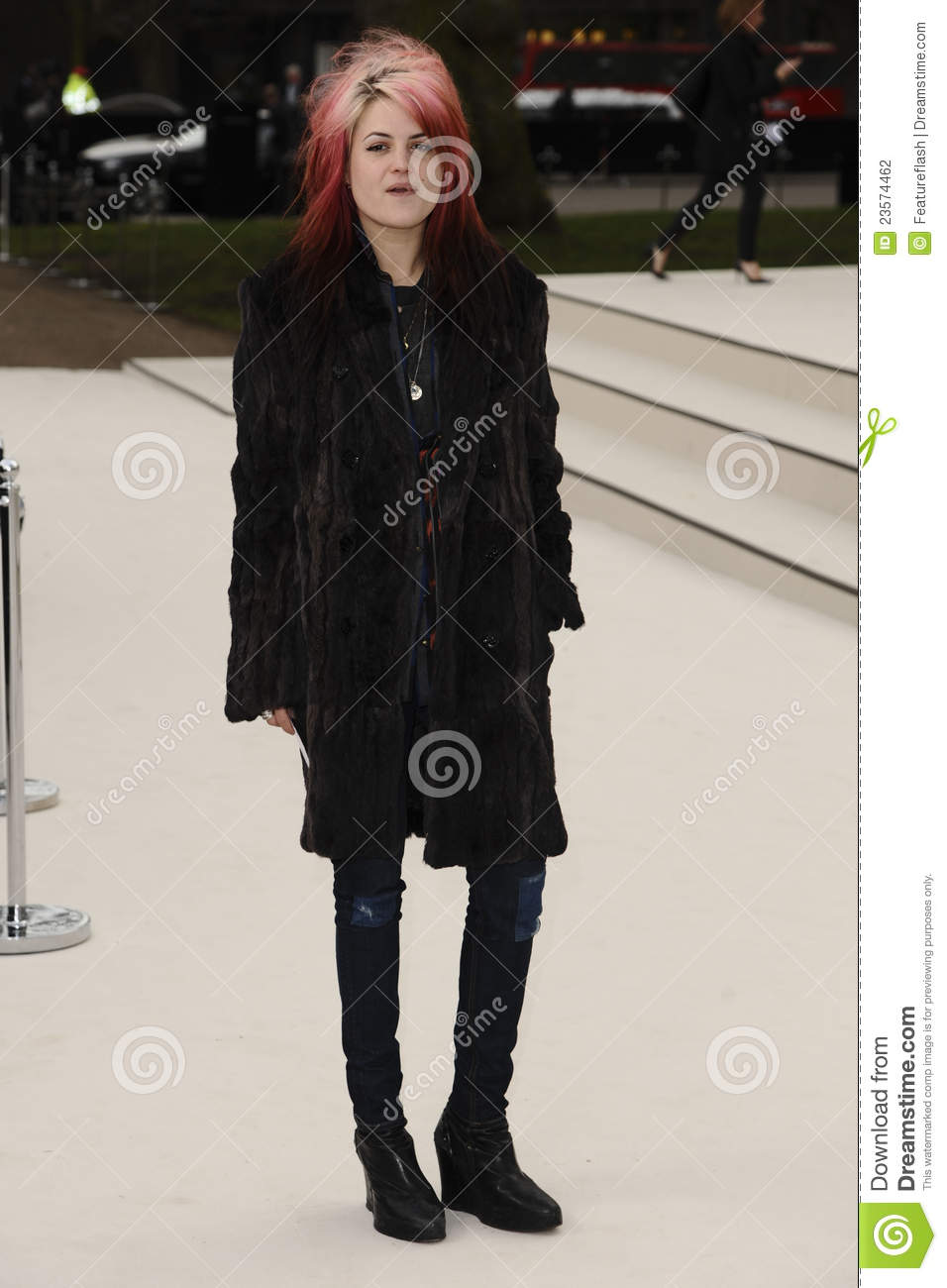 57e9324fb3d1 Alison Mosshart arriving for the Burberry Prorsum fashion show as part of London  Fashion Week 2012 A W in Kensington Gardens
