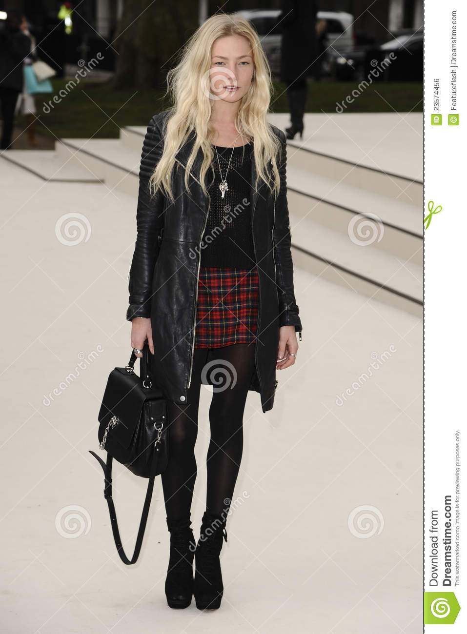 5346b88efd6c Clara Paget arriving for the Burberry Prorsum fashion show as part of London  Fashion Week 2012 A W in Kensington Gardens