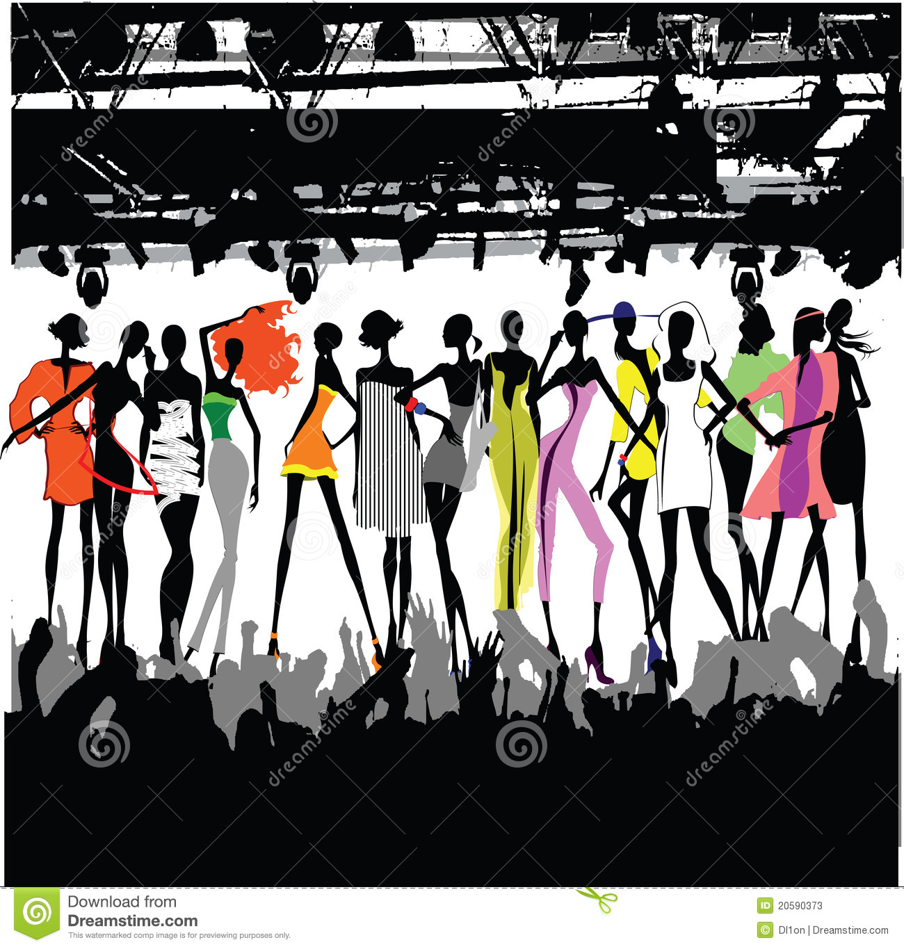 Fashion Show Crowd Stock Photos - Image: 20590373