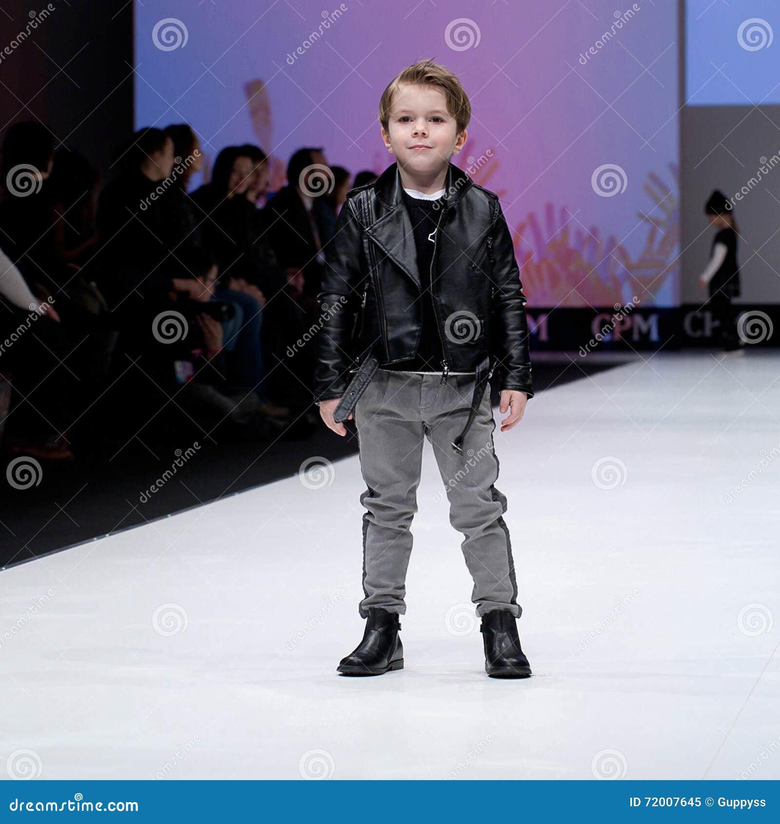 Fashion Show Kids Boy On Podium Editorial Image Image Of