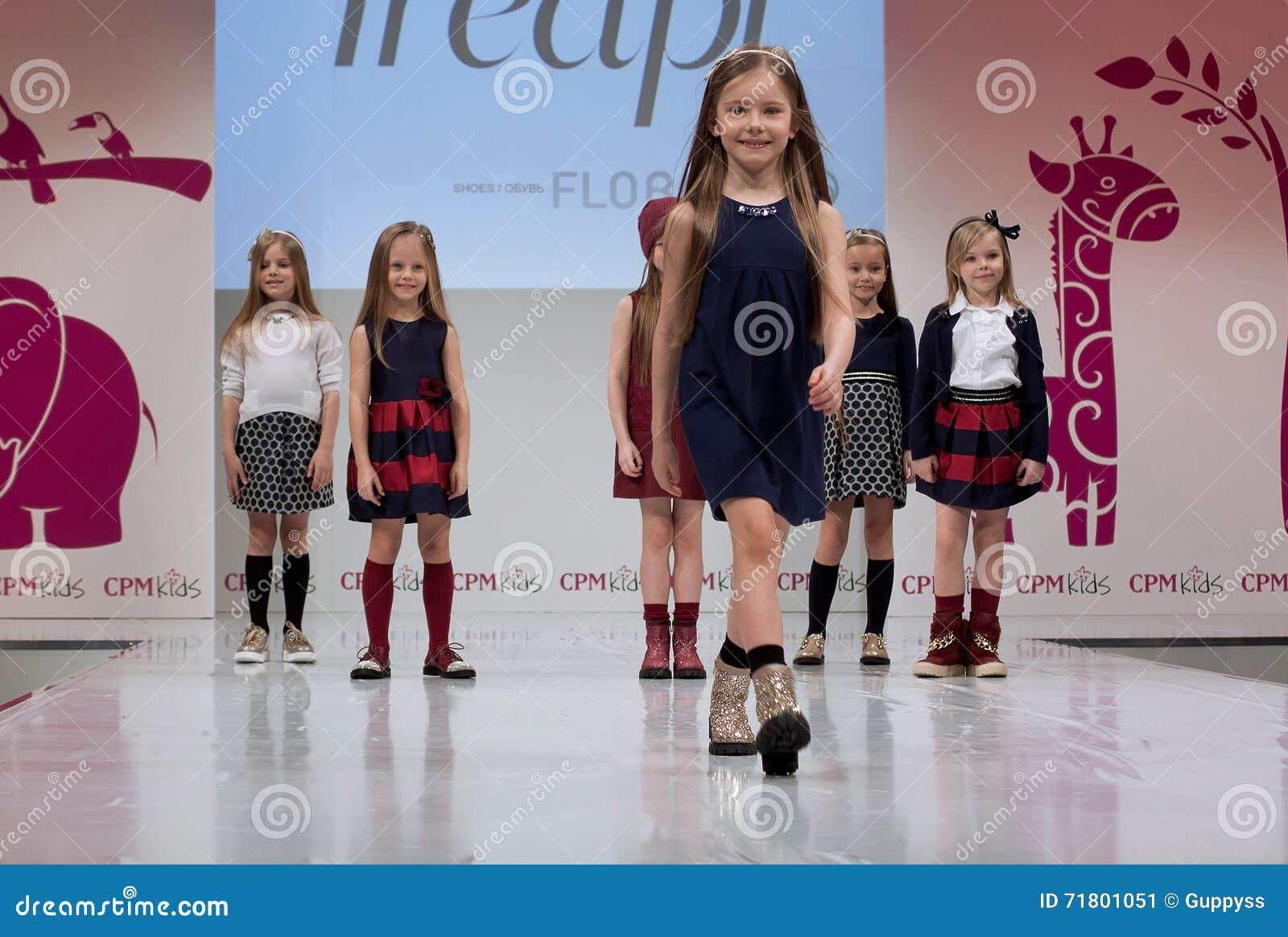 Fashion Show Kids On Podium Editorial Photo Image Of