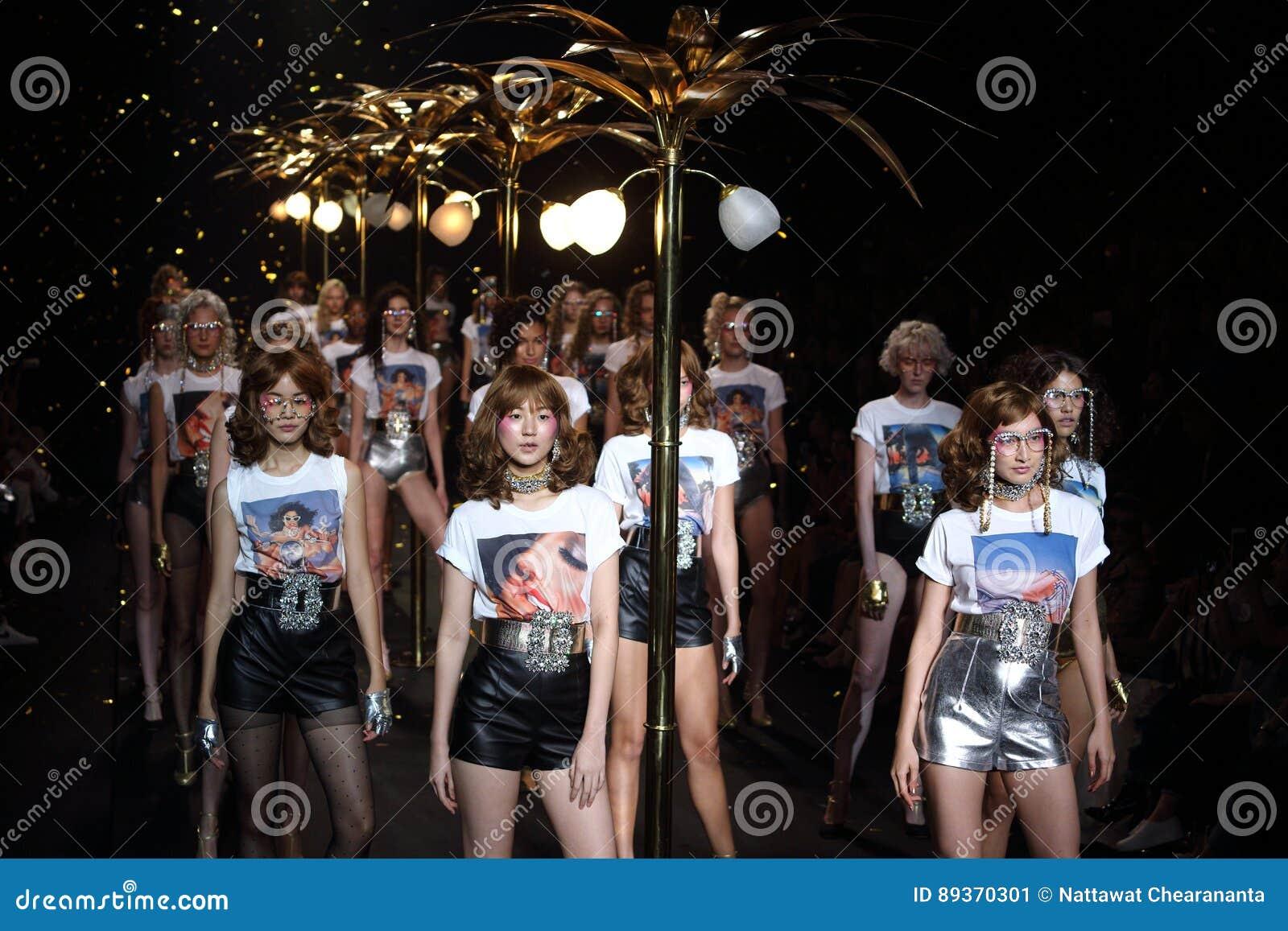 Bangkok, Thailand - March 24, 2017 ; Fashion Show `La Boutique` Woman ready  to wear and Swim High Cut style in `Bangkok International Fashion Week 2017  or ...