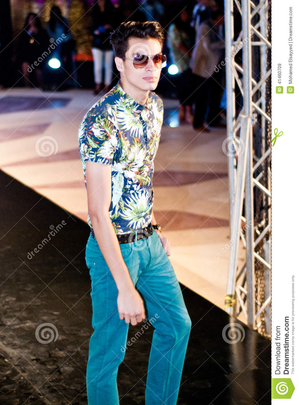 Fashion Show For Max Fashion Model 15 Editorial Stock Image Image Of Cairo Emirates 41460709