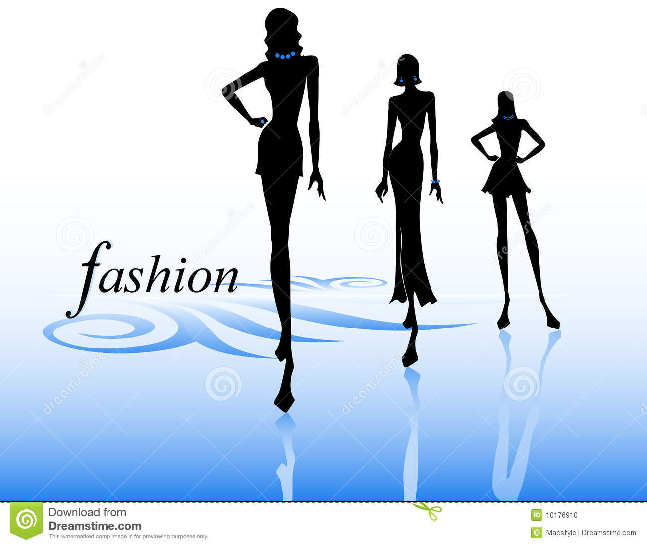 Fashion Show Silhouettes Stock Vector Illustration Of Body