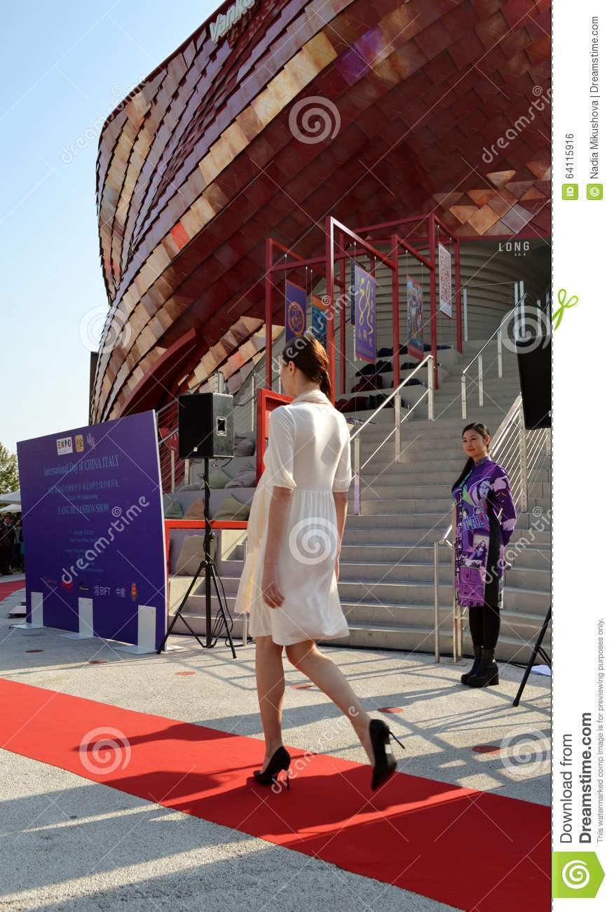 A Fashion Show At The Vanke Pavilion Of The Expo Milano 2015 Editorial Image Cartoondealer