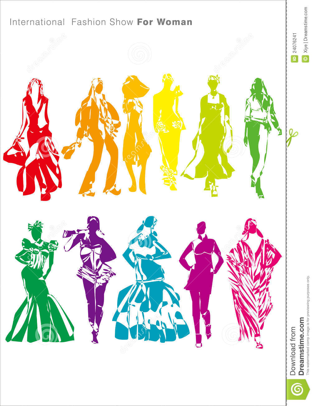 Fashion Show For Woman Stock Vector Illustration Of